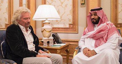 Саудовская Аравия инвестирует в компании Ричарда Брэнсона $1 млрд