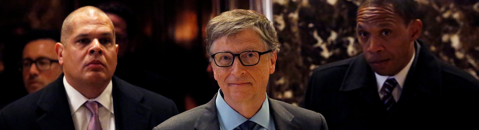 Bill Gates encontra-se com Donald Trump