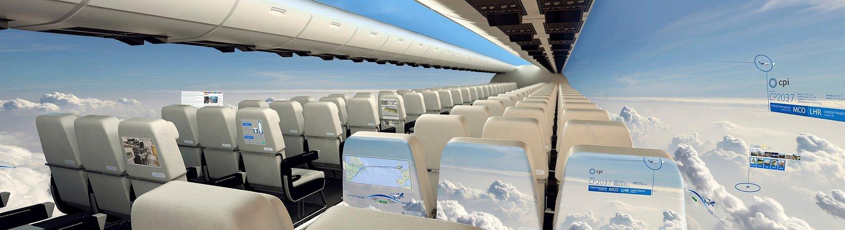 El avión sin ventanas que volará dentro de 10 años