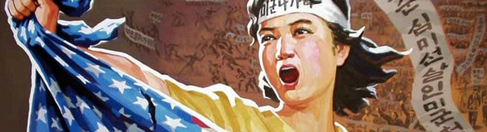 Coleção de 13 cartazes de propaganda da Coreia do Norte
