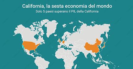 La California è la sesta economia del mondo