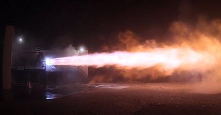 SpaceX lleva a cabo la primera prueba del motor Raptor