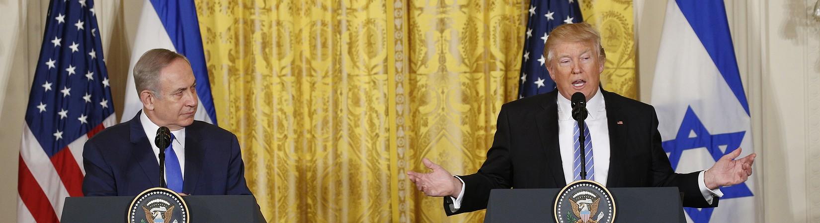Trump no se comprometerá a buscar una solución para la disputa entre Israel y Palestina