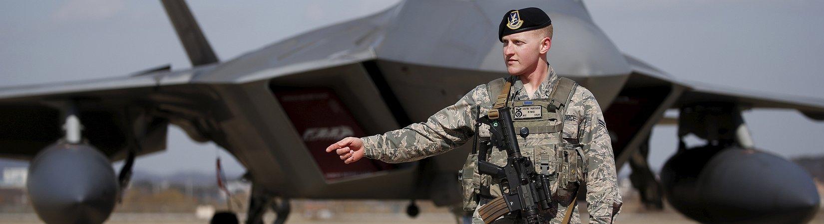 USA fliegen mir F-22 über Südkorea