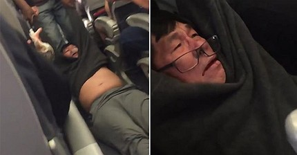 United shares plunge after video of passenger ejected from flight goes viral