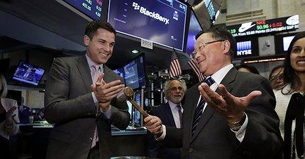 Фото дня: BlackBerry перешла с биржи NASDAQ на NYSE