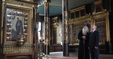Фото дня: Путин встретился с главой старообрядческой церкви