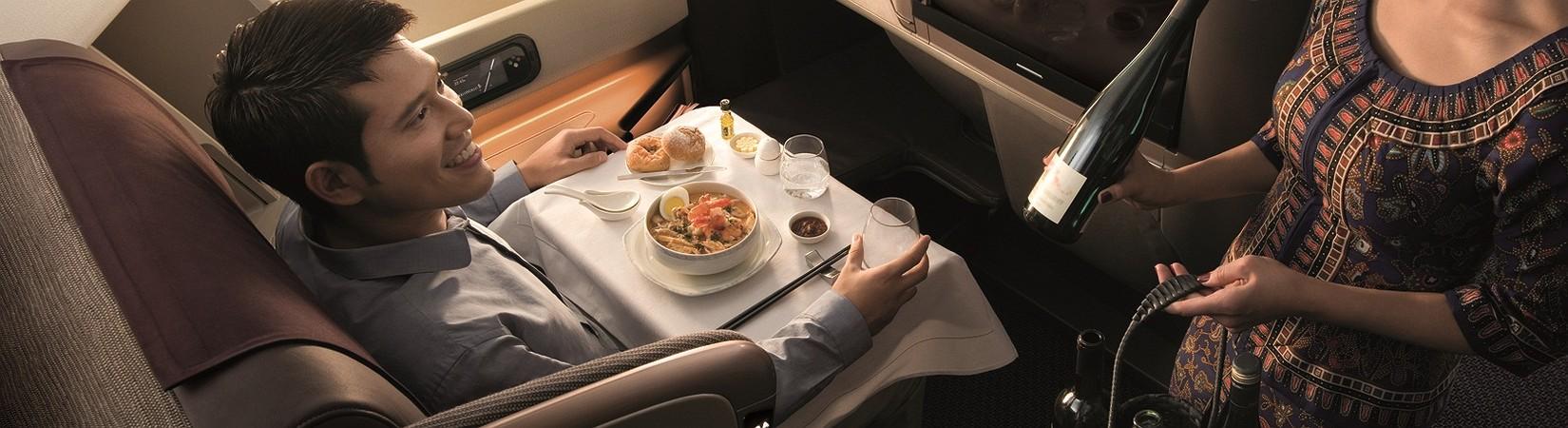 Las 5 aerolíneas con el mejor menú a bordo