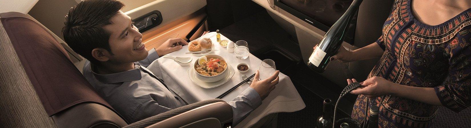 As 5 companhias aéreas com as melhores refeições a bordo