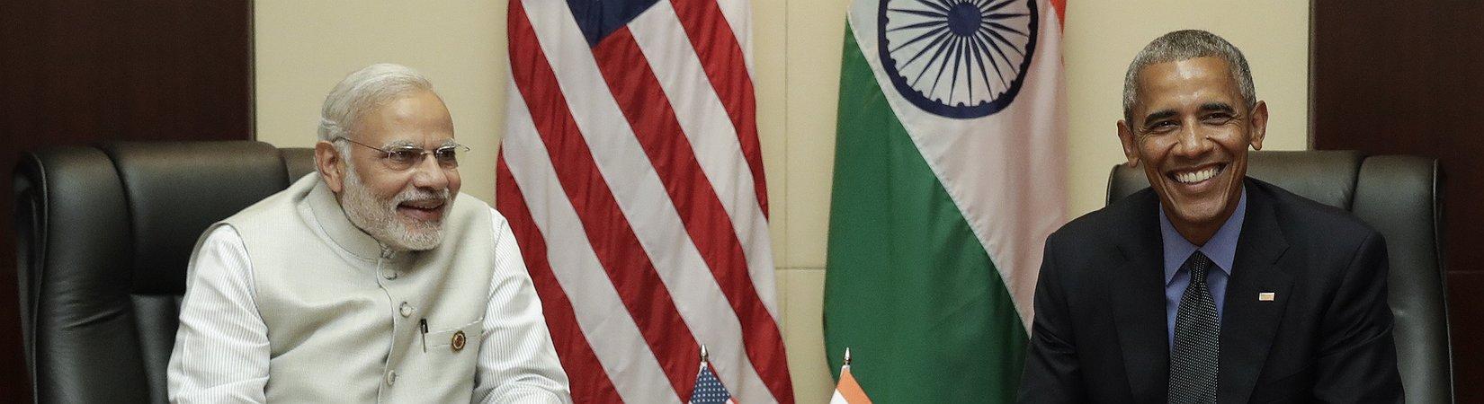 Obama e Modi encontram-se no Laos