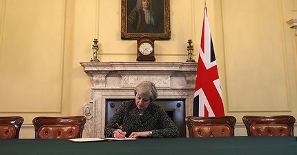May signs letter to trigger Brexit