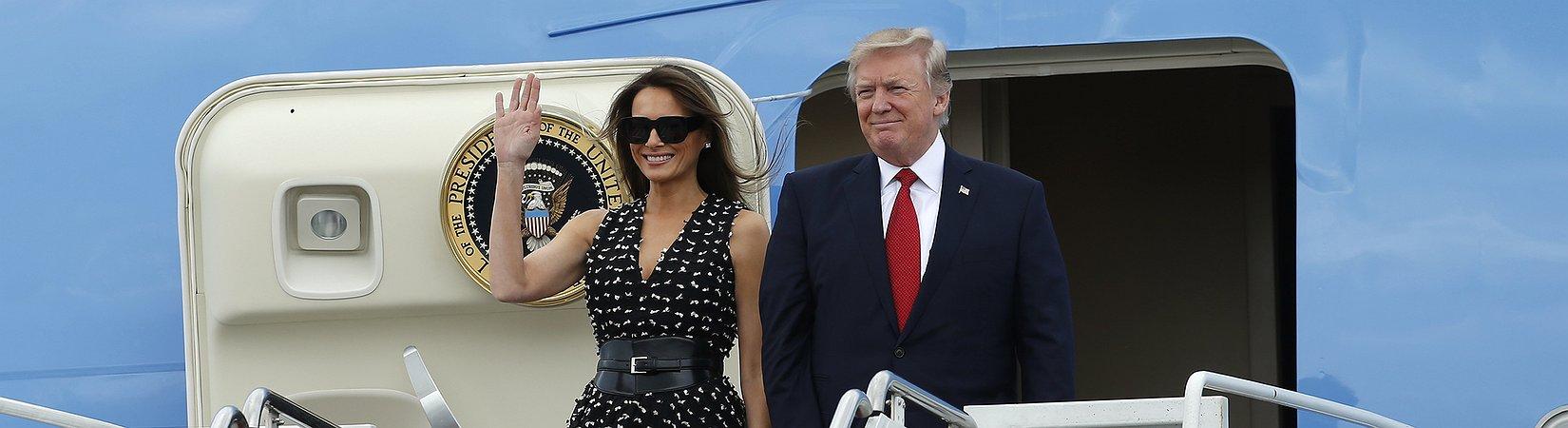 Donald Trump inicia primeira viagem internacional
