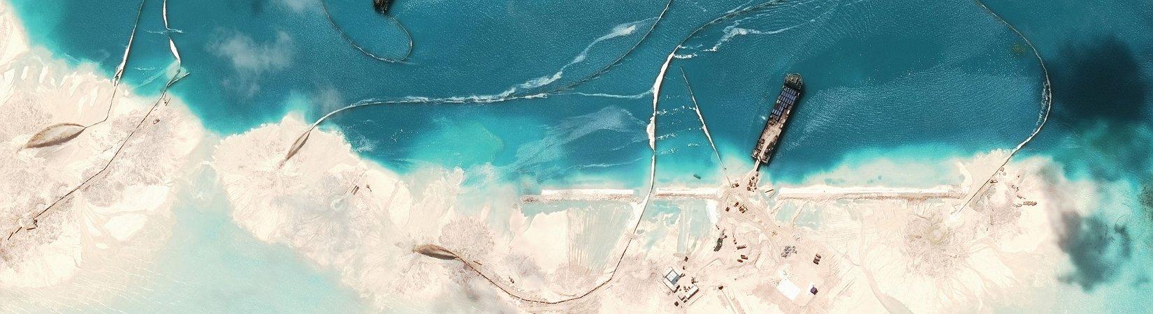 Chinesische Mauer aus Sand