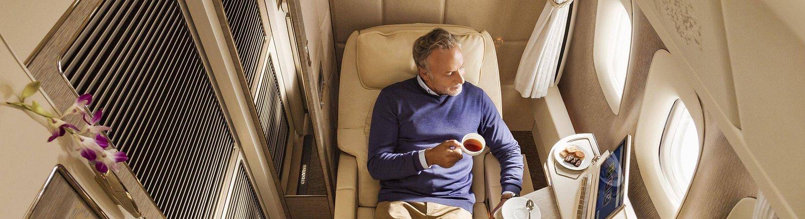 A nova primeira classe da Emirates Airlines