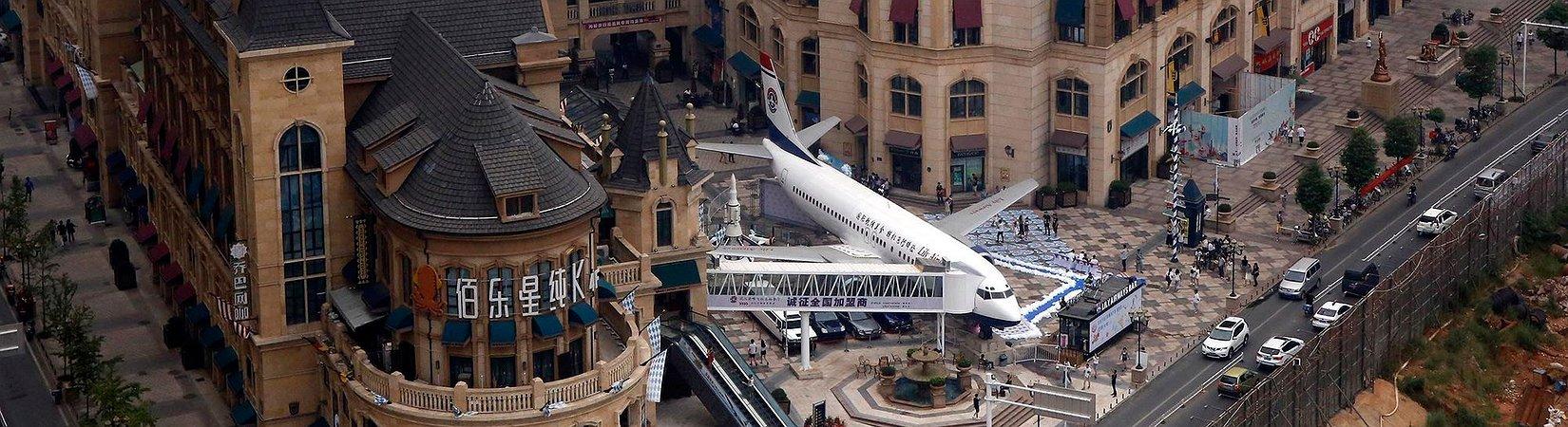 Un empresario chino convierte un Boeing 737 en un restaurante