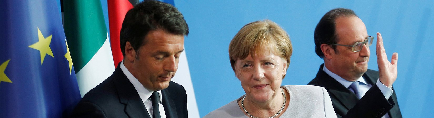 Merkel, Hollande, Renzi: simbolismo, pero sin sustancia