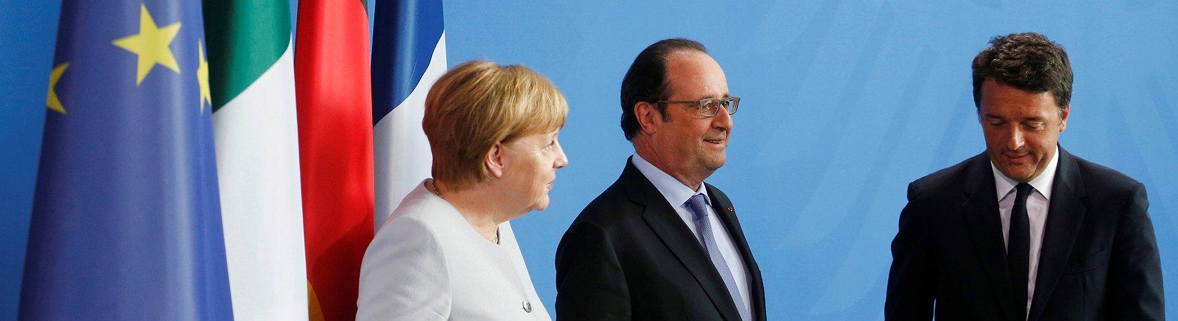 Merkel, Hollande y Renzi se reunirán para discutir el Brexit