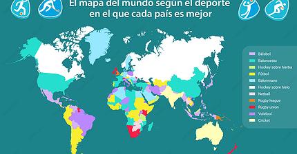Gráfico del día: el mapa del mundo según el deporte
