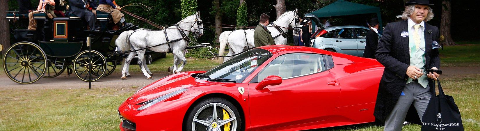 Ferrari rollt abwärts