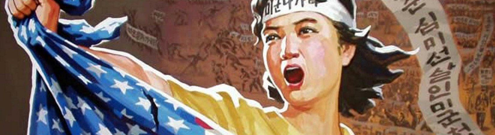 """""""¿Quieres pelear con nosotros?"""": Colección de carteles de propaganda de Corea del Norte"""