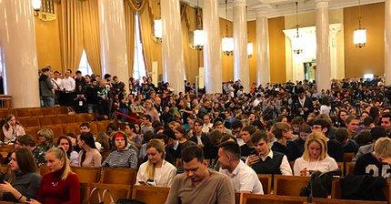 ФОТО: Стив Возняк провел часовую лекцию в МГУ