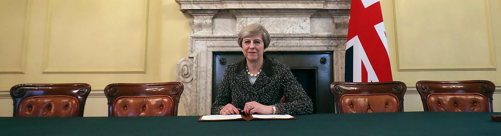 Theresa May ha firmato la lettera di notifica dell'Articolo 50