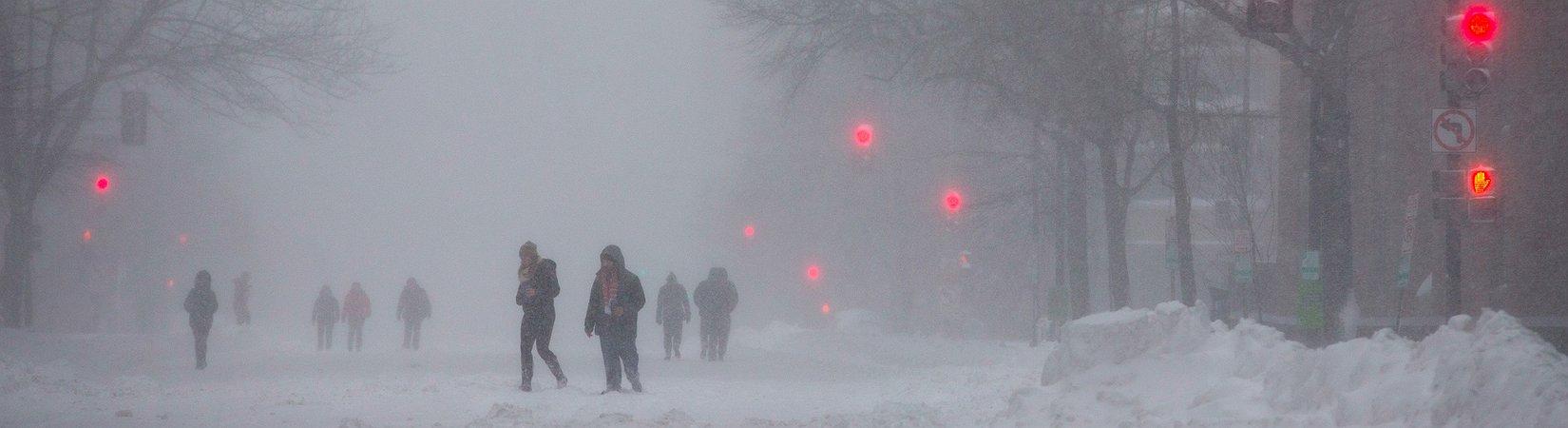 Amerika im Schnee