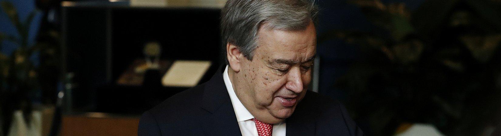 """Guterres quer reunir com Trump """"logo que seja possível"""""""