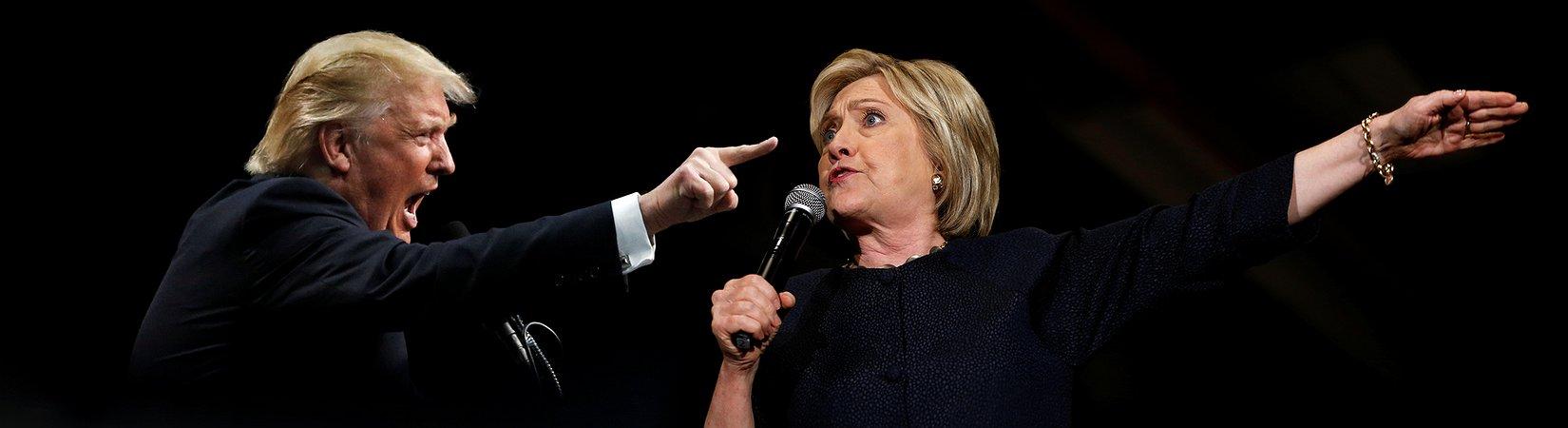 Trump gegen Clinton