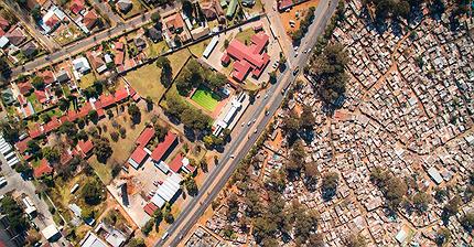 FOTOS: la impactante desigualdad en Sudáfrica