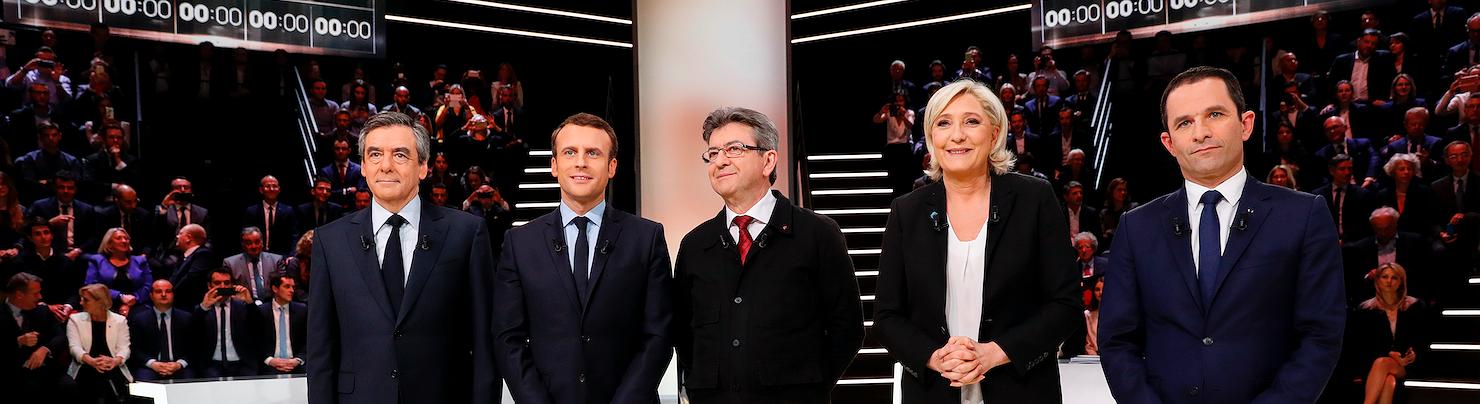 Macron gana el primer debate de los candidatos a la presidencia francesa