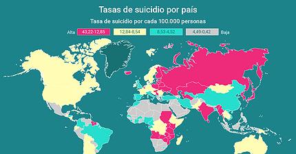 Infografía: ¿Qué países tienen el mayor número de suicidios?