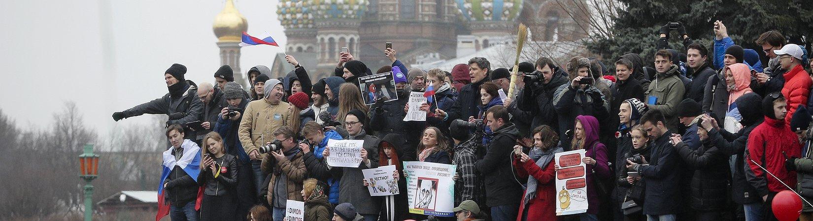 I cittadini russi scendono in piazza contro il governo Putin