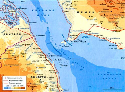 Где находится баб-эль мандебский пролив на карте