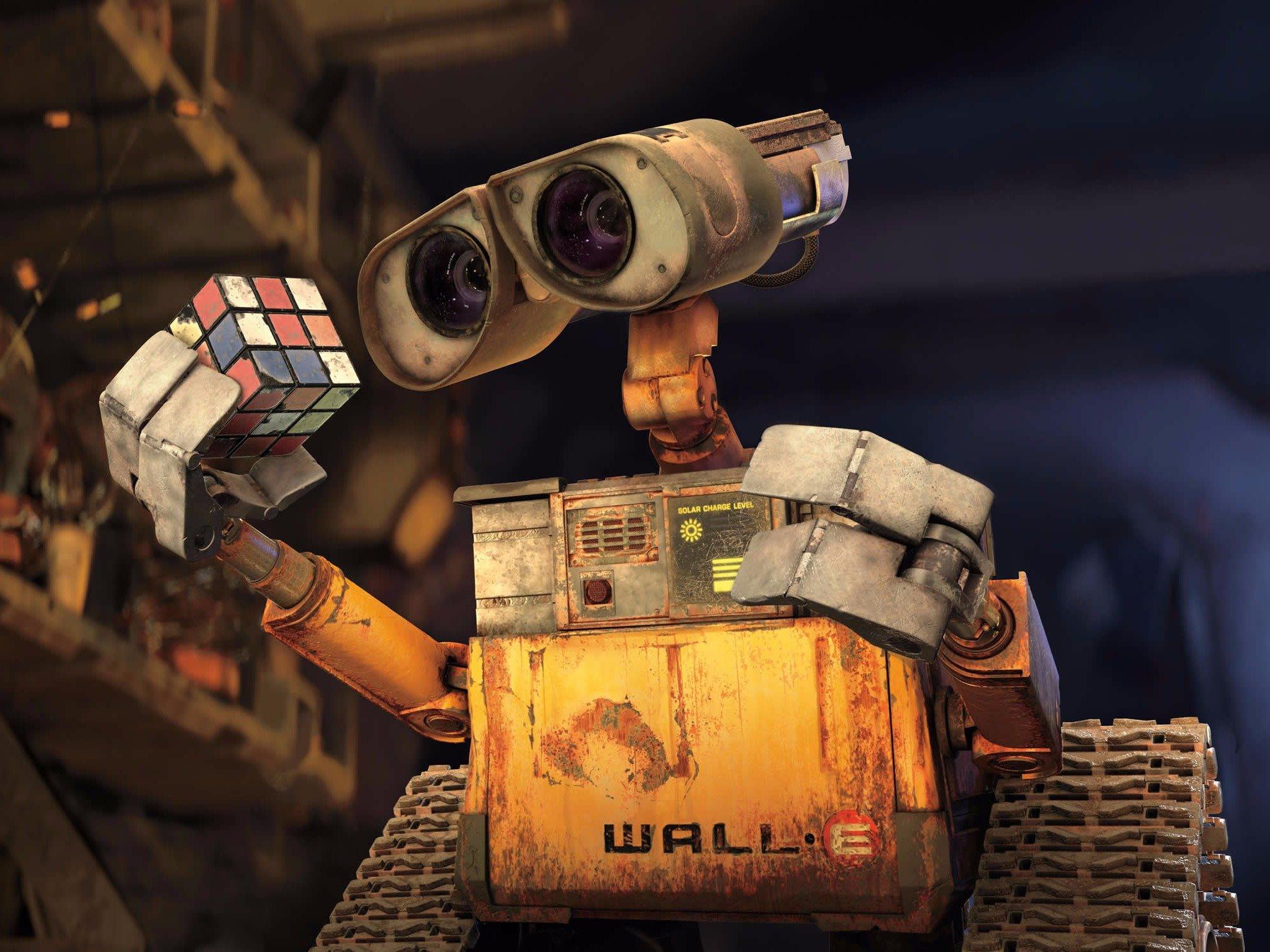 видео про робота валли банки