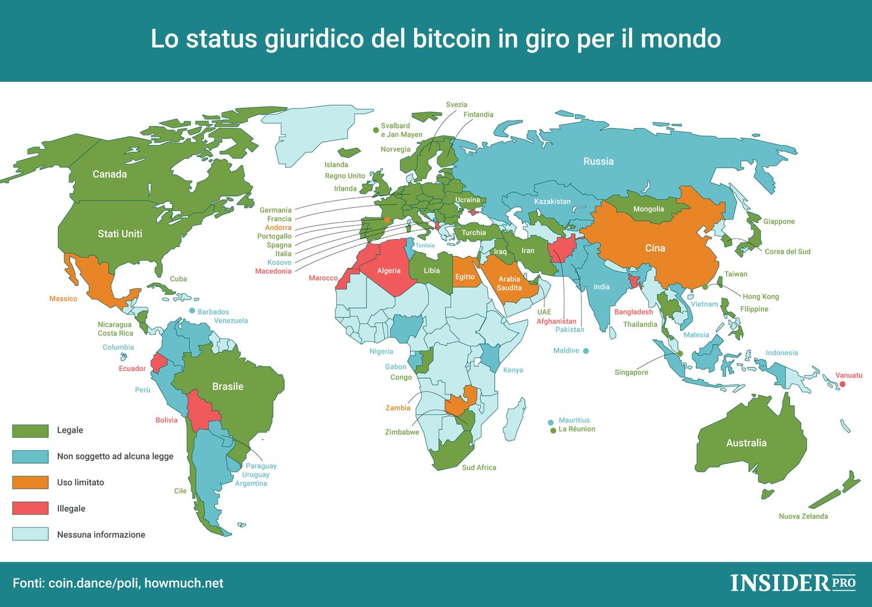 mappa del mondo bitcoin