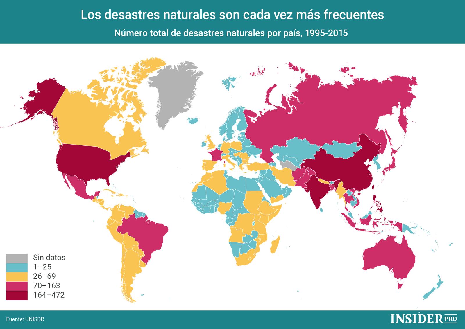 Gráfico del día: Los desastres naturales son cada vez más frecuentes