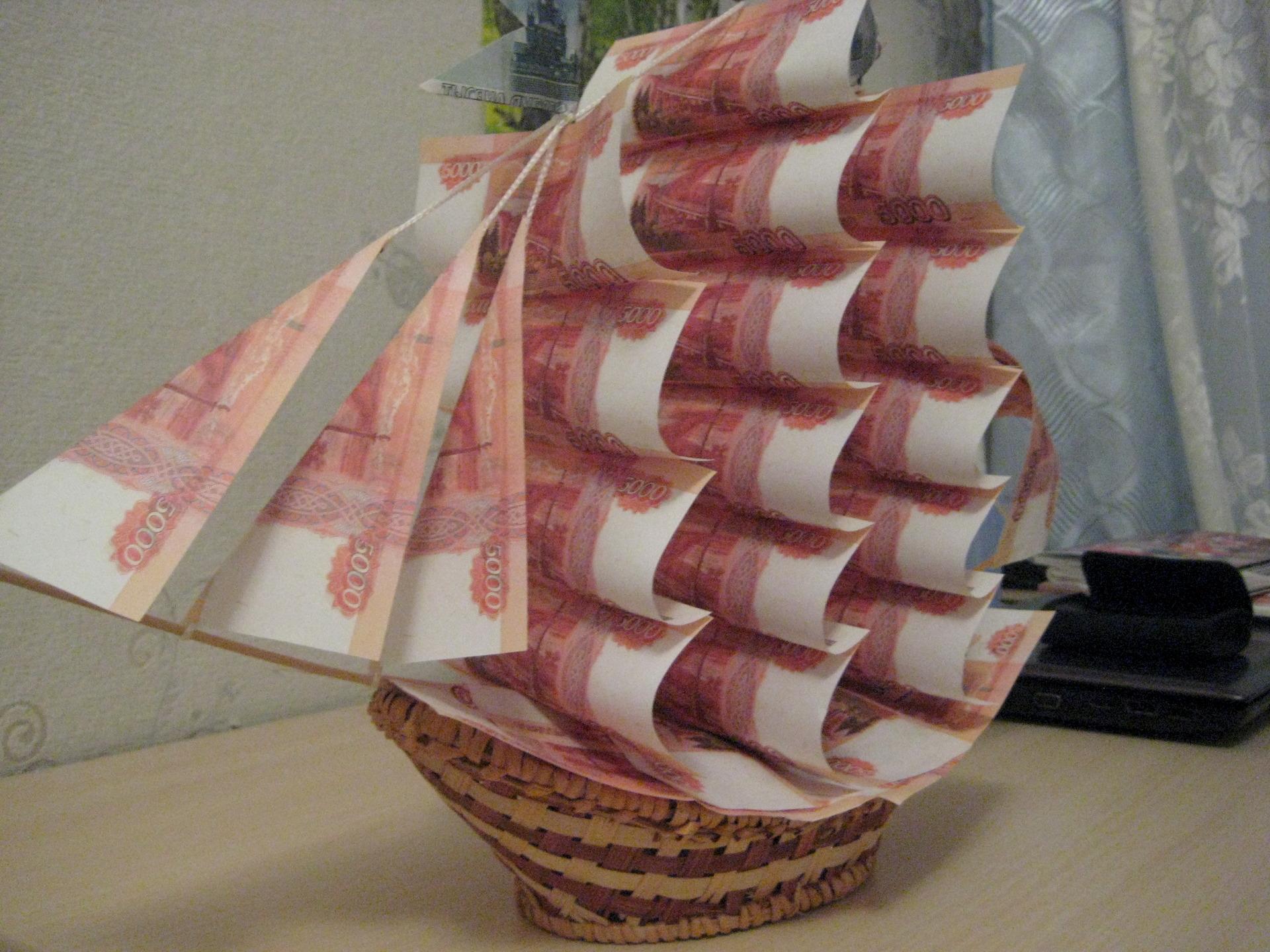 Поделки из денег на день рождения для мужчин