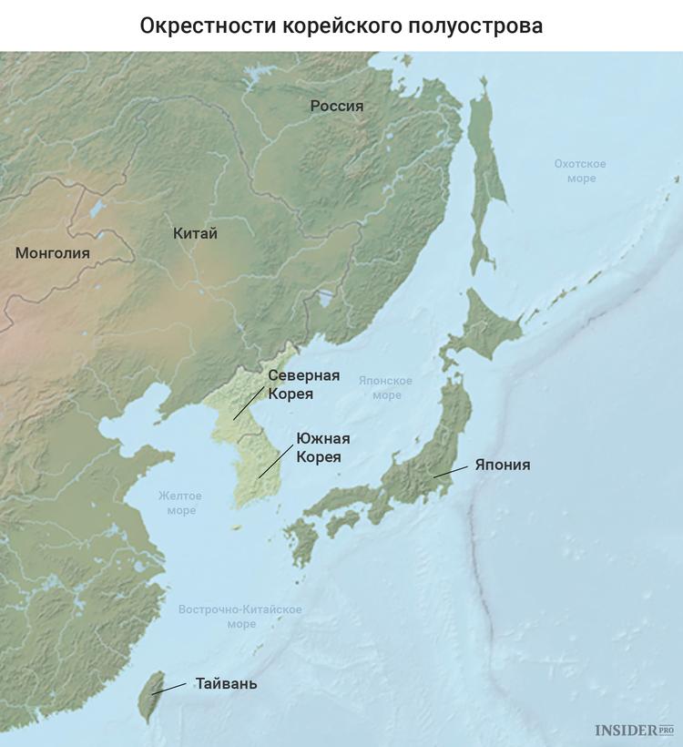 Окрестности Корейского полуострова
