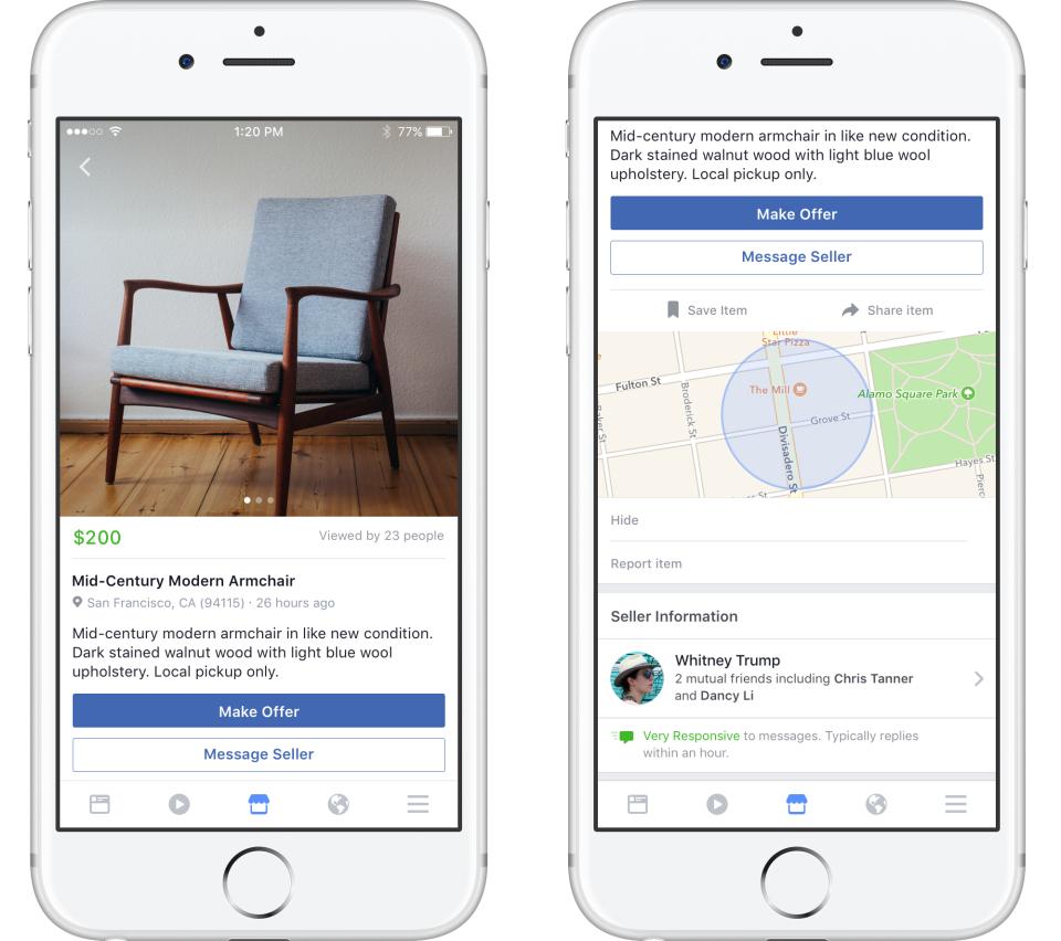 Facebook запустил сервис для публикации объявлений о покупке и продаже вещей